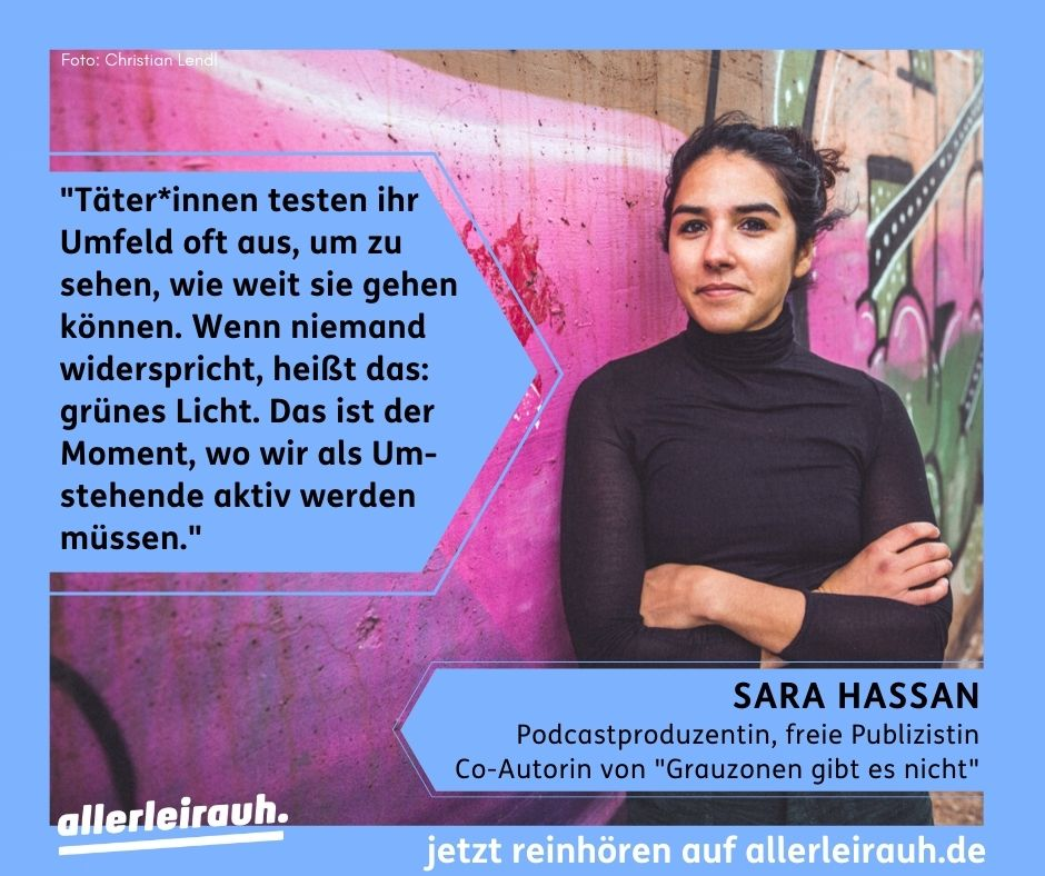 Zitatgrafik mit Sara Hassan